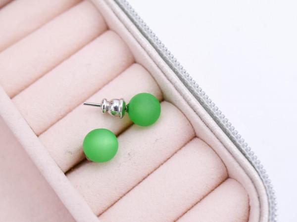 Ohrstecker Polarisperle grün