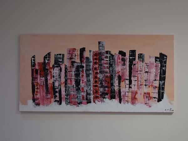 """Bild """"Abstrakte Skyline"""""""