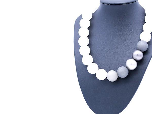 Halskette Polaris weiß
