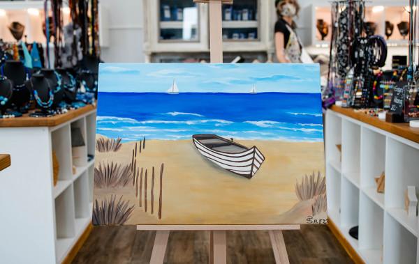 """Bild """"Boot und Strand"""""""