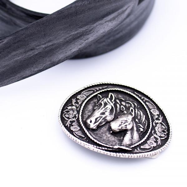 "Gürtelschnalle ""Foal Silber"""