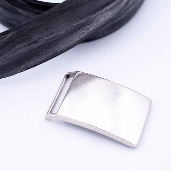 "Gürtelschnalle ""Shield Silber"""